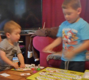 Alexander and Lucas are keeping themselves busy;