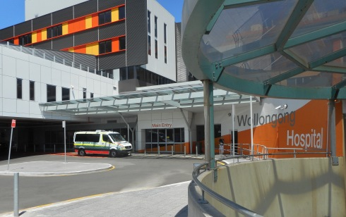 The other side of Wollongong Hospital