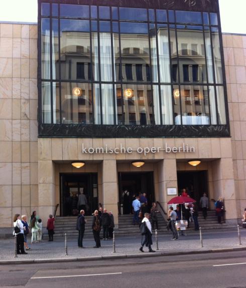 We had tickets for the Komische Oper in Berlin.