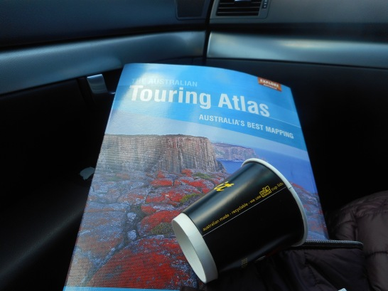We've had this Touring Atlas for a very long time. It is a bit outdated. But I still like to look things up in it when we're travelling.