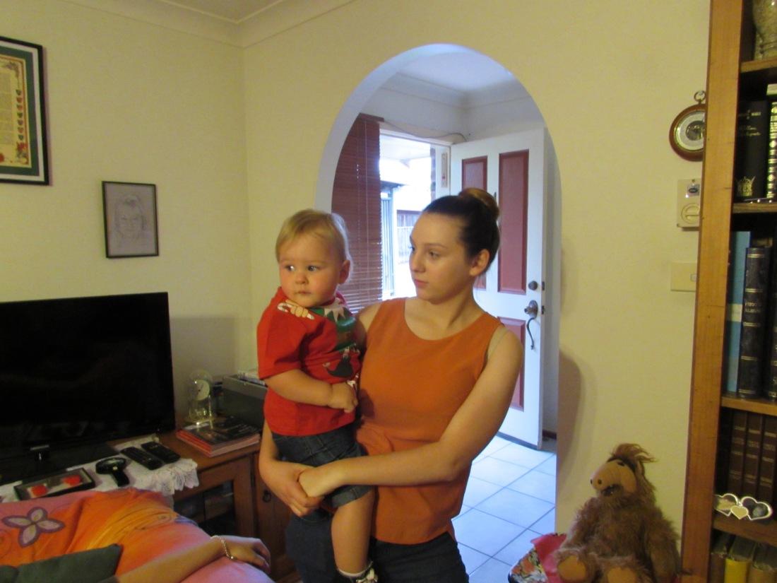 Little Lucas with Auntie Krystal
