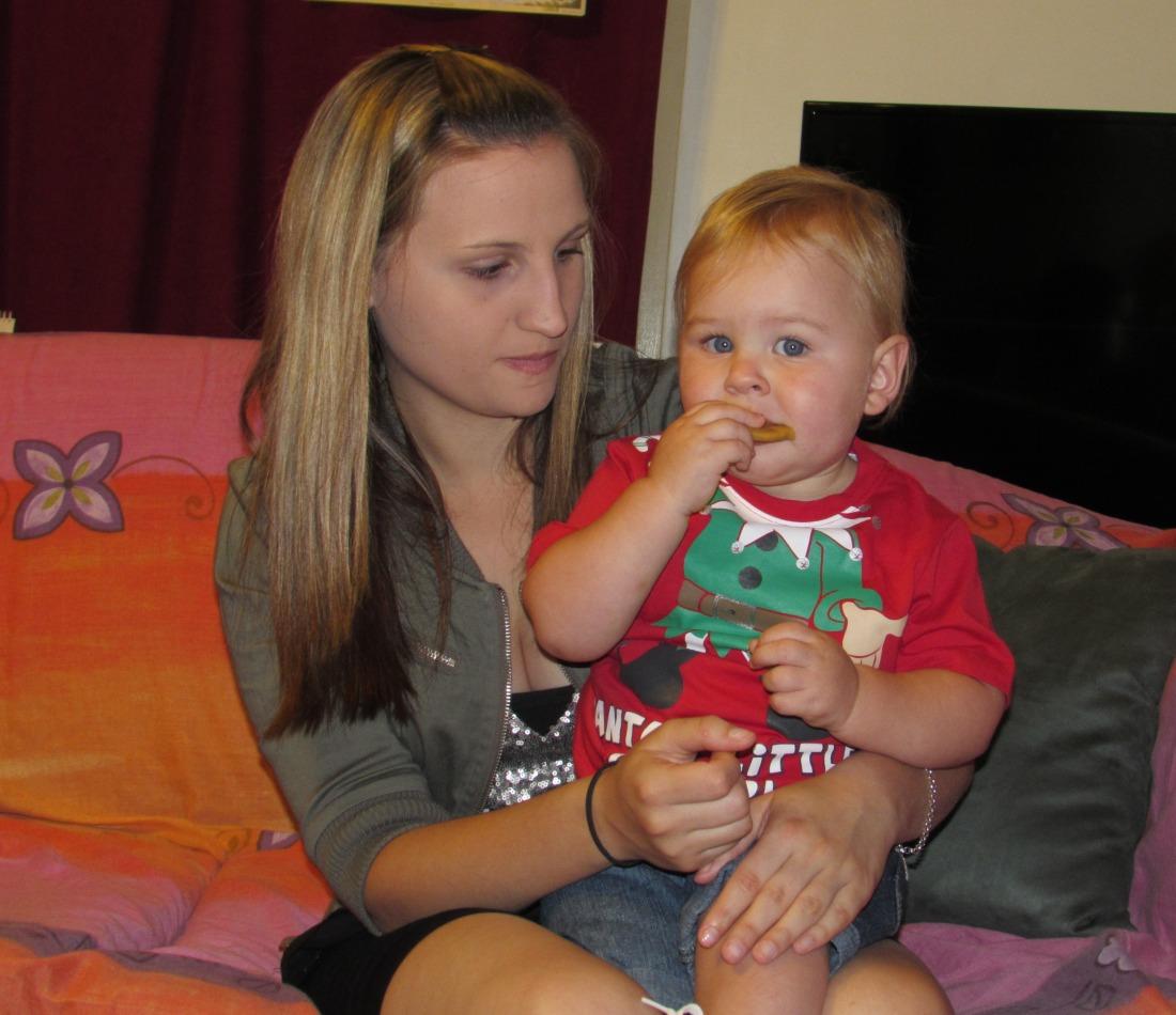 Little Lucas with Auntie Roxy
